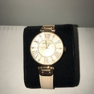 Anne Klein leather band watch